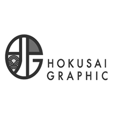 京都祇園 北斎グラフィック
