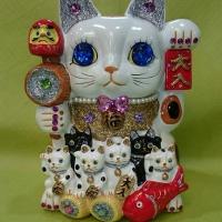 神社 招き猫 八坂